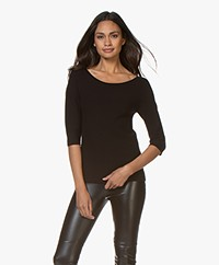 Wolford Viscool Short Sleeve Sweater - Black