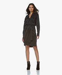 Drykorn Jinna Cupro Shirt Dress - Black