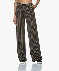 studio .ruig Bietje Striped Pants - Black/White