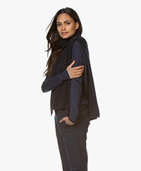 extreme cashmere N°109 Head Cashmere Turtleneck Poncho - Navy