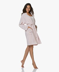 Hammam34 The Flower Geborduurde Katoenen Kimono - Dusty Pink