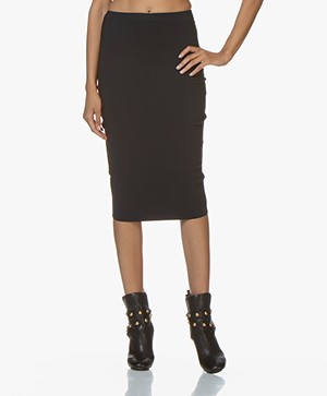 studio .ruig Roelandia Bonded Tech Jersey Skirt - Dark Blue