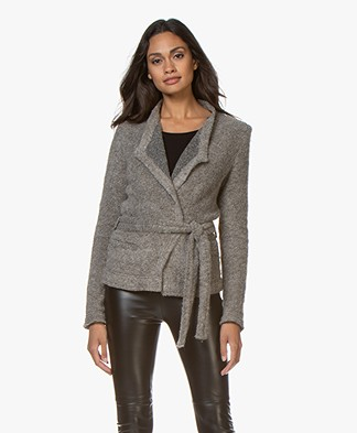 IRO Iquitos Alpaca Mix Blazer Jacket - Dirty Grey