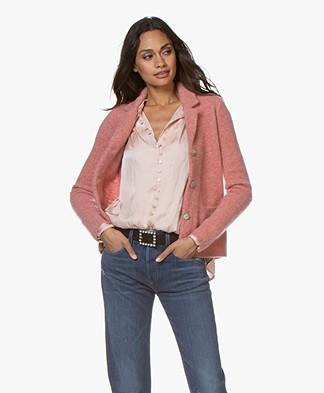 Belluna Watson Mohair Blend Blazer Cardigan - Pink