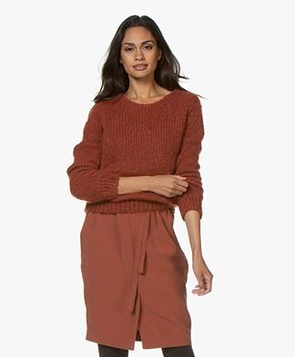American Vintage Manina Wool Blend Sweater - Tango Melange