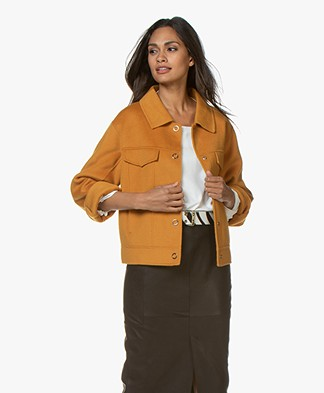 Marie Sixtine Eric Oversized Wool Jacket - Honey