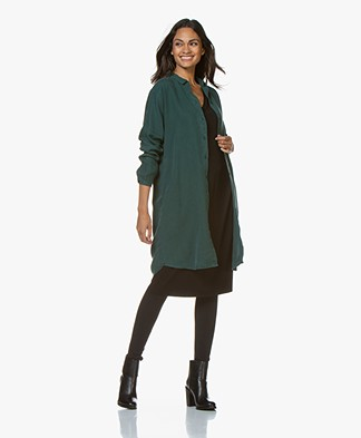 by-bar Dali Lyocell Twill Shirt Dress - Dark Green