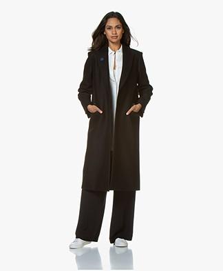 Zadig & Voltaire Marcova Black Wool Coat - Black