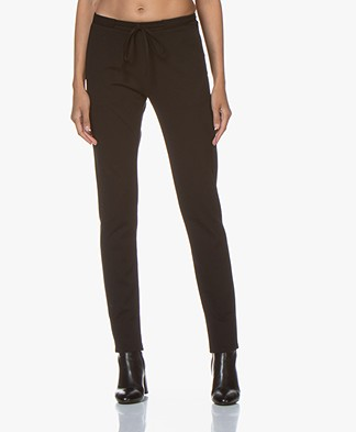 studio .ruig Bries Interlock Heavy Jersey Pants - Black