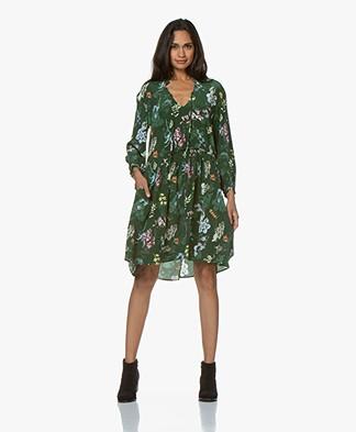 Zadig & Voltaire Resist Silk Print Dress - Officier