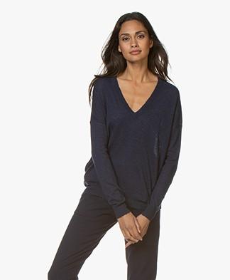 Zadig & Voltaire Brume Cashmere V-neck Sweater - Sailor