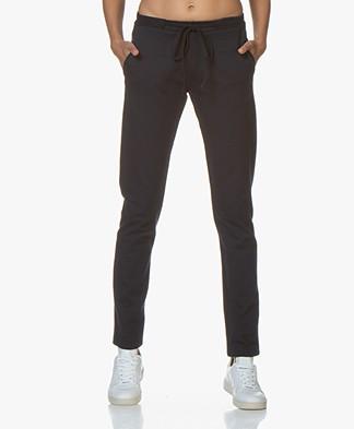 studio .ruig Bries Interlock Heavy Jersey Pants - Dark Blue