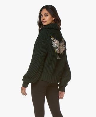 Zadig & Voltaire Aline Awa Eagle Chunky Knit Cardigan - Jungle