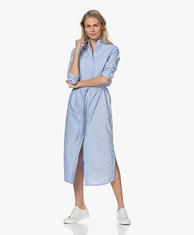 Josephine & Co Boaz Cotton Chambray Shirt Dress - Sky Blue