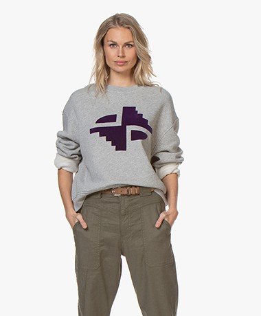 Closed Flock Print Sweatshirt - Grijs Mêlee