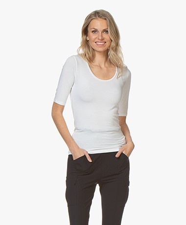 Majestic Filatures Soft Touch Round Neck T-shirt - White