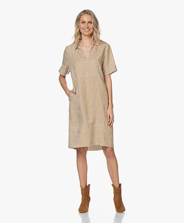 LaSalle Striped Linen Dress - Desert