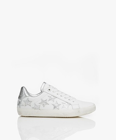 Zadig & Voltaire Used Star Leather Sneakers - White