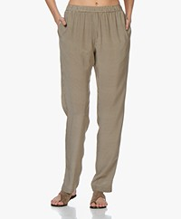 Joseph Hurley Silk Pants with Print - Latte