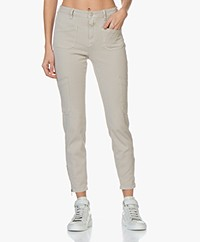 Closed Abby Slim-fit Jersey Broek - Lama