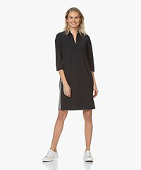 Josephine & Co Rifka Travel Jersey Jurk - Navy