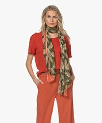 LaSalle Printed Cotton Scarf - Palms