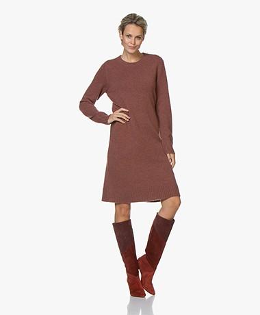 Repeat Fine Knitted Wool Blend Dress - Terra