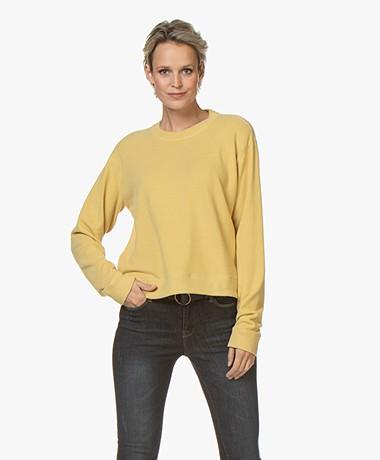 Denham Showa Sweatshirt met Ronde Hals - Honey