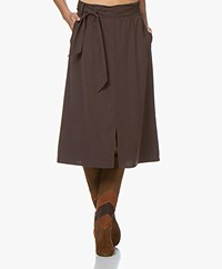 Josephine & Co Garry Viscose Paperbag Skirt - Dark Brown