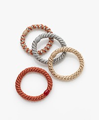 Bon Dep Kknekki Hair Ties - Terracotta/Beige/Grey