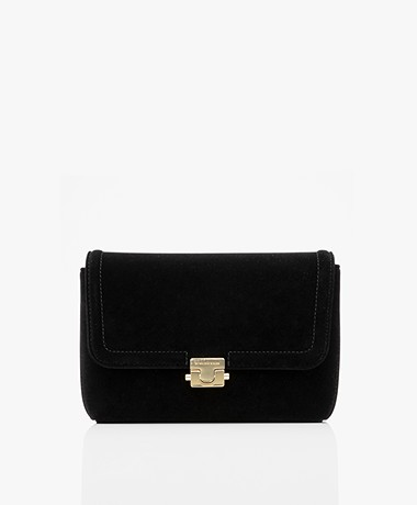 By Malene Birger Ray Velvet Purse - Black