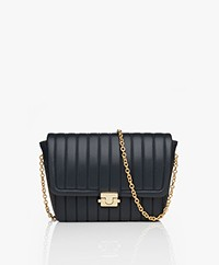 By Malene Birger Berta Leren Mini Schoudertas/Clutch - Night Blue