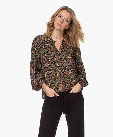 indi & cold Viscose Printed Shirt - Black/Multi