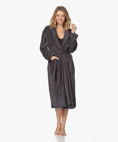 Calvin Klein Fleece Plush Robe - Dark Grey Melange