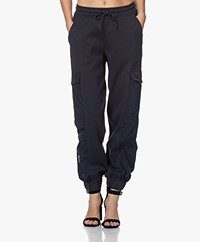 By Malene Birger Maxwell Utility Sweatpants - Sky Captain