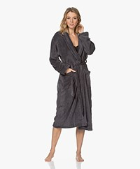 Calvin Klein Fleece Plush Robe - Dark Grey Melange