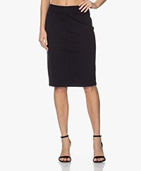 Filippa K Esther Punto di Roma Jersey Skirt - Navy