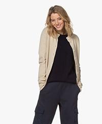 extreme cashmere N°99 Little Short Cashmere Cardigan - Latte