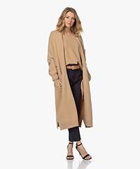 extreme cashmere N°61 Koto Midi Cashmere Blend Cardigan - Camel
