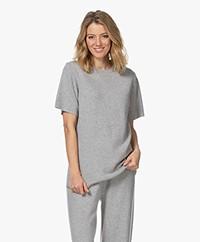 extreme cashmere N°64 Lang Gebreid T-shirt - Grijs