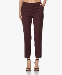 Filippa K Emma Cropped Cool Wool Pantalon - Maroon