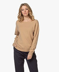 extreme cashmere N°39 Should Cashmere Boat Neck Sweater - Camel