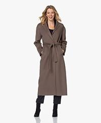 Filippa K Alexa Cashmere Blend Woolen Coat - Dark Taupe