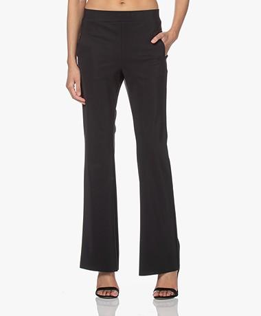 no man's land Tech Jersey Flared Pants - Core Black