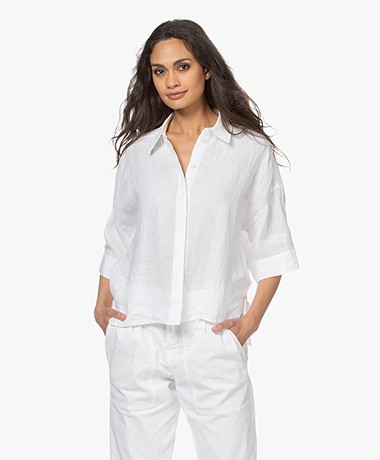 Drykorn Therry Linen Shirt - White