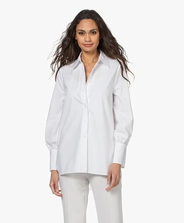 By Malene Birger Martigues Cotton Poplin Shirt - Pure White