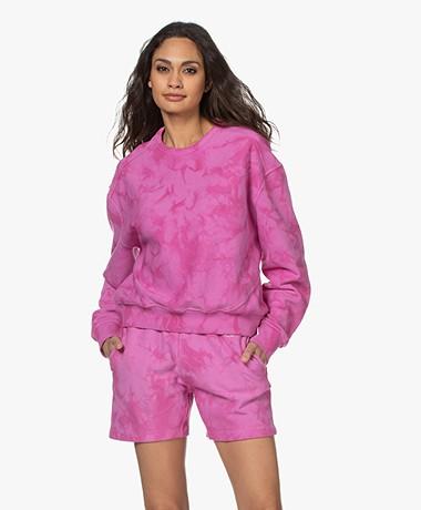 Rag & Bone City Tie Dye Sweatshirt - Fuchsia