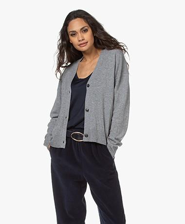 Closed Wool and Cashmere V-neck Cardigan - Grey Melange