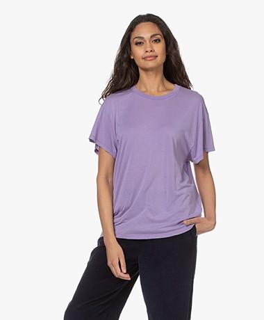 IRO Pozo Lyocell Mix T-shirt - Purple