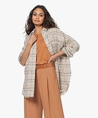 IRO Lukia Tweed Cotton Blend Jacket - Pink/Black/Multi